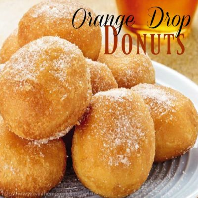 Orange Drop Donuts made with the T-fal 7-in-1 Multi-Cooker & Fryer