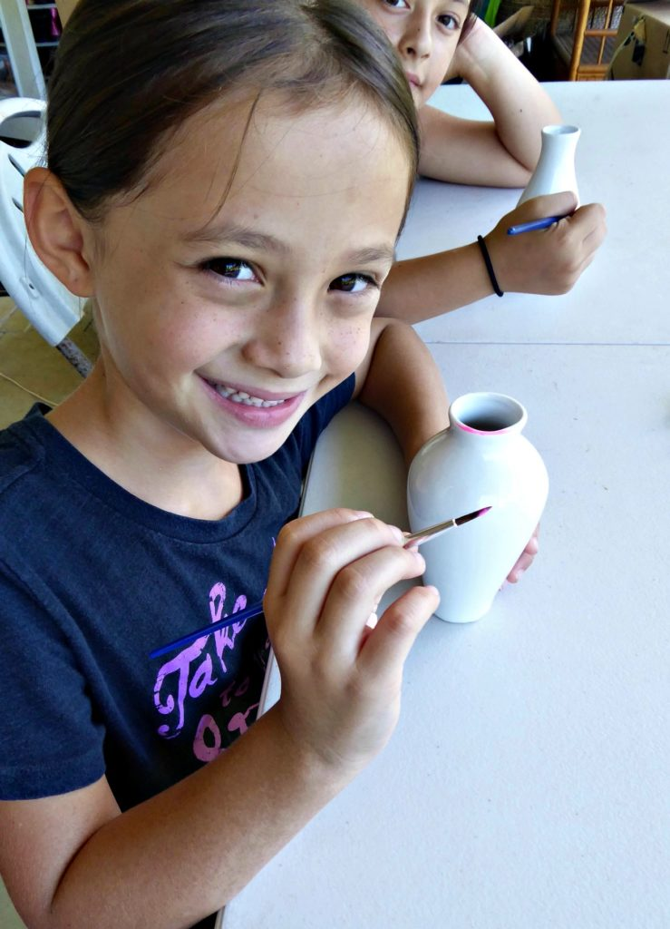 painting-their-own-pottery-vases