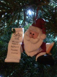 personalized santa list ornament