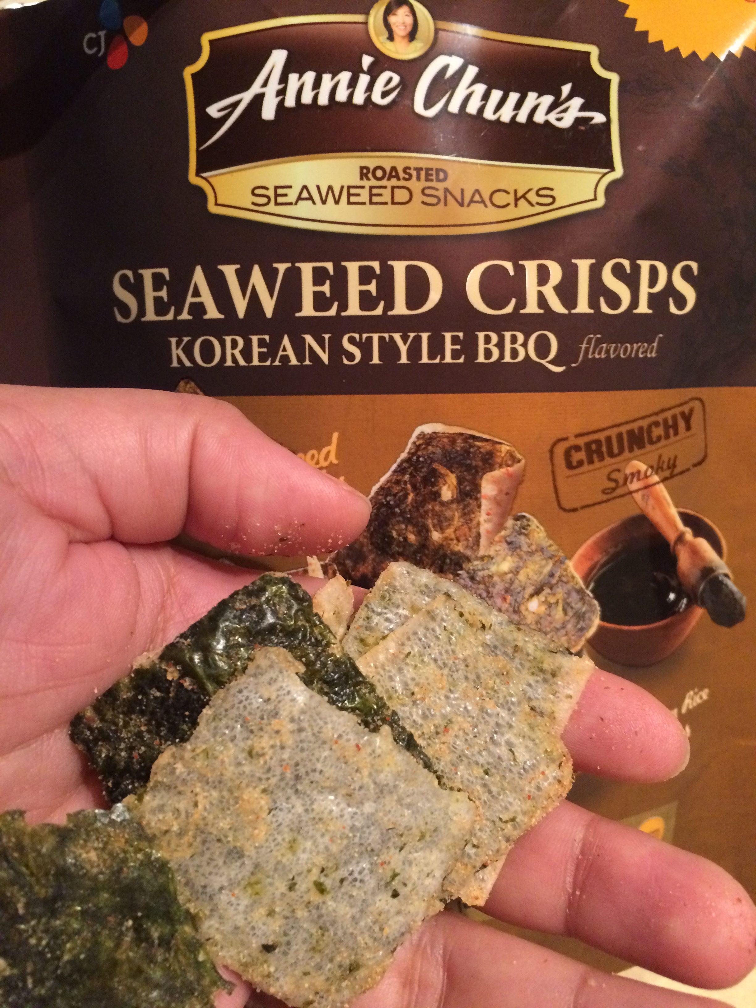 annie chun's seaweed crisps healthy snack
