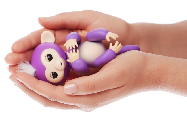 purple fingerlings toy