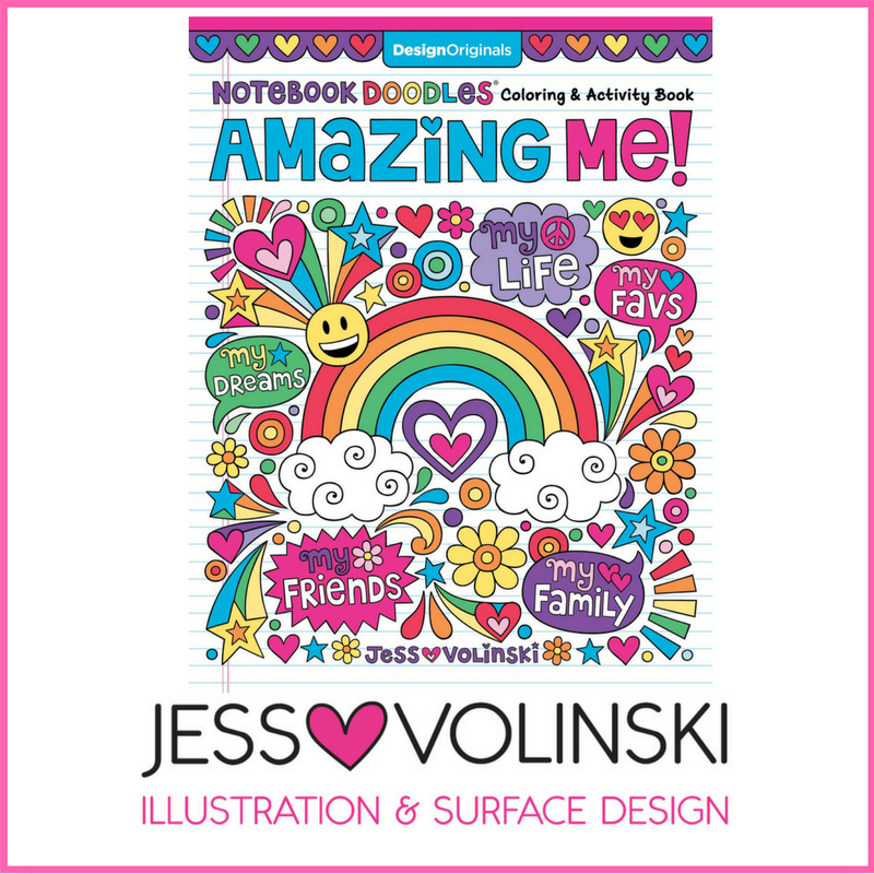 notebook doodles amazing me coloring & activity book jess volinski