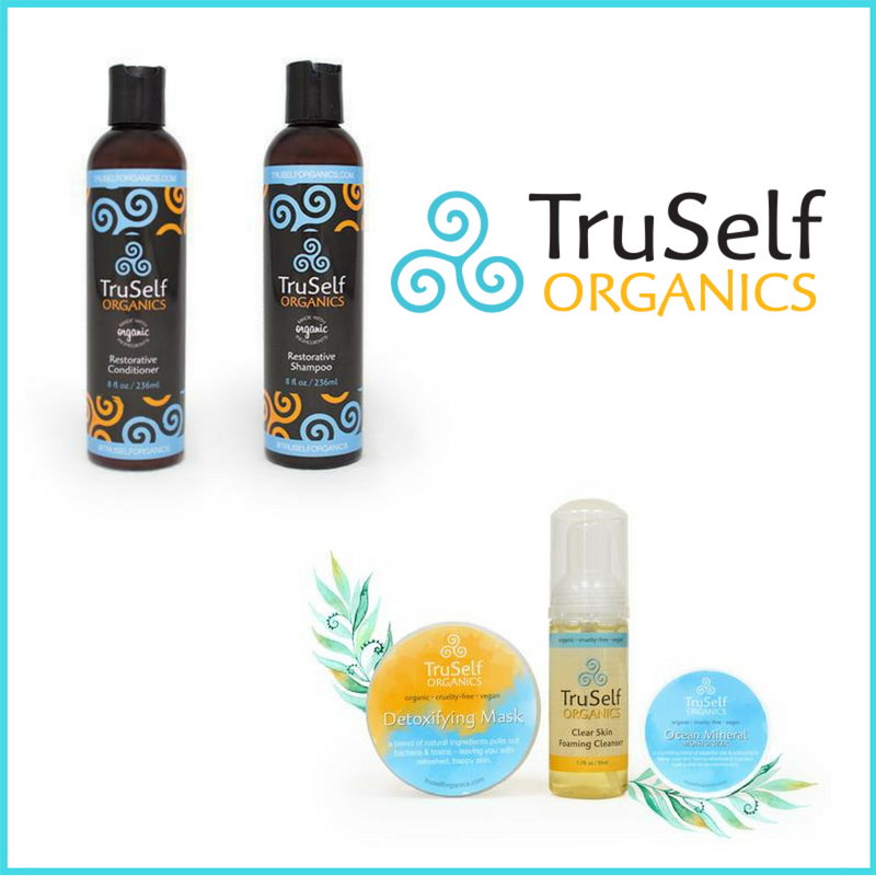 TruSelf Organics organic vegan hair and skin care products