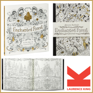 laurence king enchanted forest journal and inky quest coloring book